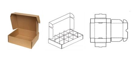 """Caixas de Papelão Ondulado - Tipo """"Corte e Vinco"""""""
